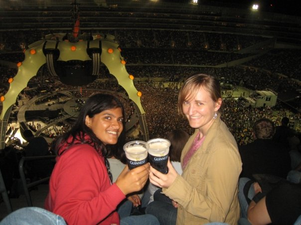 Me and Katie at the U2 concert