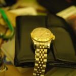 My watch on my desk