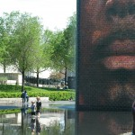 Children playing in the Crown Fountain at MP