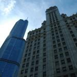 Trump Tower and the Wrigley Building